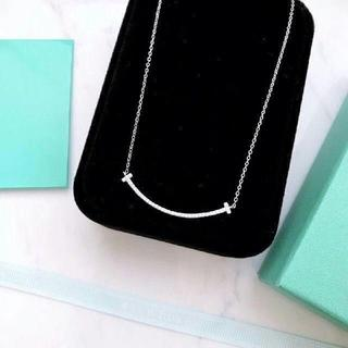 Tiffany & Co. - Tiffany ティファニー Tスマイルネックレス ダイヤ ネックレス シルバー