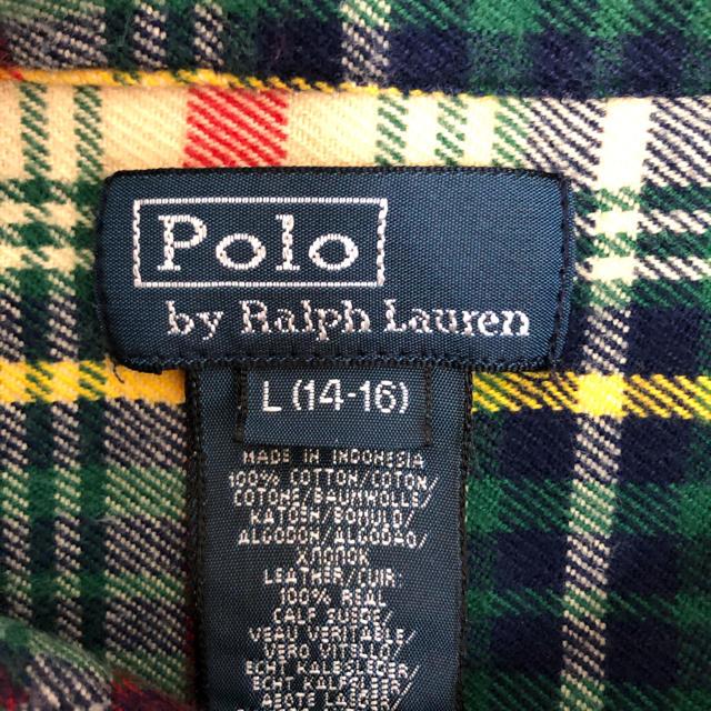 POLO RALPH LAUREN(ポロラルフローレン)の【希少】ラルフローレン ネルシャツ 長袖 ワンポイント刺繍ロゴ レディースのトップス(シャツ/ブラウス(長袖/七分))の商品写真
