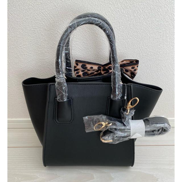 rienda(リエンダ)のアニマルスカーフ付きバッグ レディースのバッグ(ハンドバッグ)の商品写真