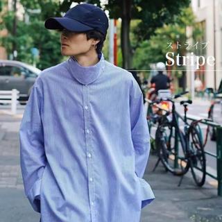 サンシー(SUNSEA)のRyo Takashina ストライプシャツ(シャツ)