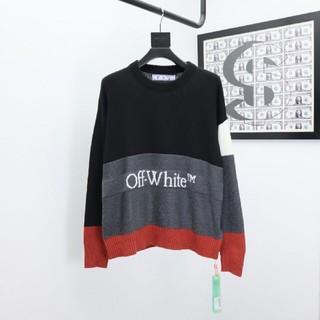 オフホワイト(OFF-WHITE)のOFF-WHITE ニットのセーター(ニット/セーター)