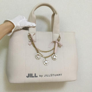 JILL by JILLSTUART - ジルバイジルスチュアート☆ジュエルリボントートバッグ