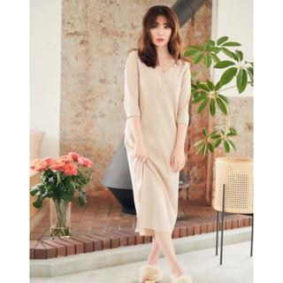 snidel - herlipto V-neck Thermal Midi Dress