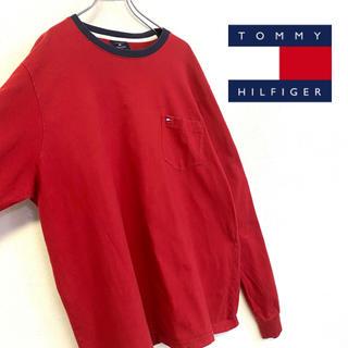トミーヒルフィガー(TOMMY HILFIGER)の美品 90's TOMMY HILFIGER ロンT メンズL ビッグシルエット(Tシャツ/カットソー(七分/長袖))