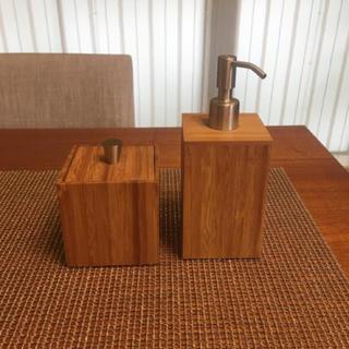 Francfranc - ハンドソープケース コットンケース インテリア ナチュラル 木製