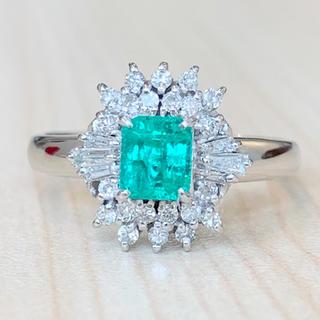 ✨エメラルド✨0.41ct❣️ダイヤ ダイヤモンド Pt850 リング 指輪(リング(指輪))