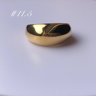 DEUXIEME CLASSE -  gold big  ring 約11〜11.5号