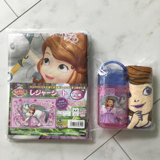 Disney - 小さなプリンセスソフィア レジャーシート おしぼり プリンセス