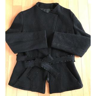 アンテプリマ(ANTEPRIMA)のANTEPRIMA アンテプリマ ショートコート 黒(ノーカラージャケット)