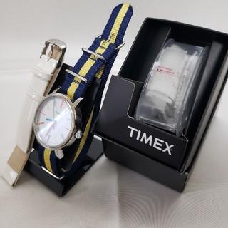 タイメックス(TIMEX)の美品 タイメックス T2N791 ホワイト NATOベルト 替えバンド セット(腕時計(アナログ))