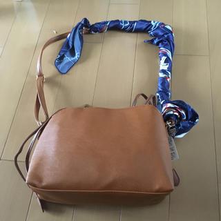 ジーナシス(JEANASIS)のマナリコ様専用 完売品 スカーフ付バッグ(ショルダーバッグ)