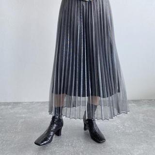JEANASIS - JEANASIS シアーシャイニープリーツスカート