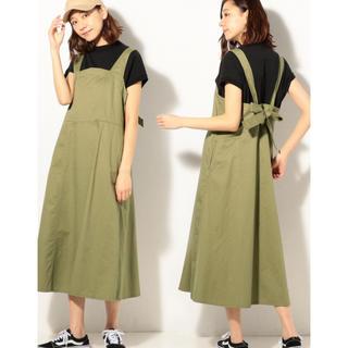 coen - coen バックリボンジャンパースカート