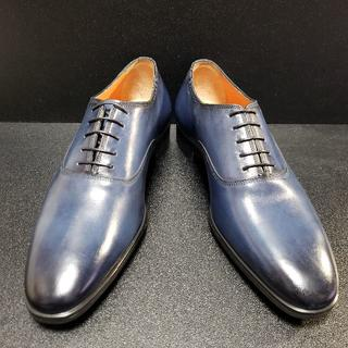 Santoni - サントーニ(Santoni) イタリア製革靴 青 UK9