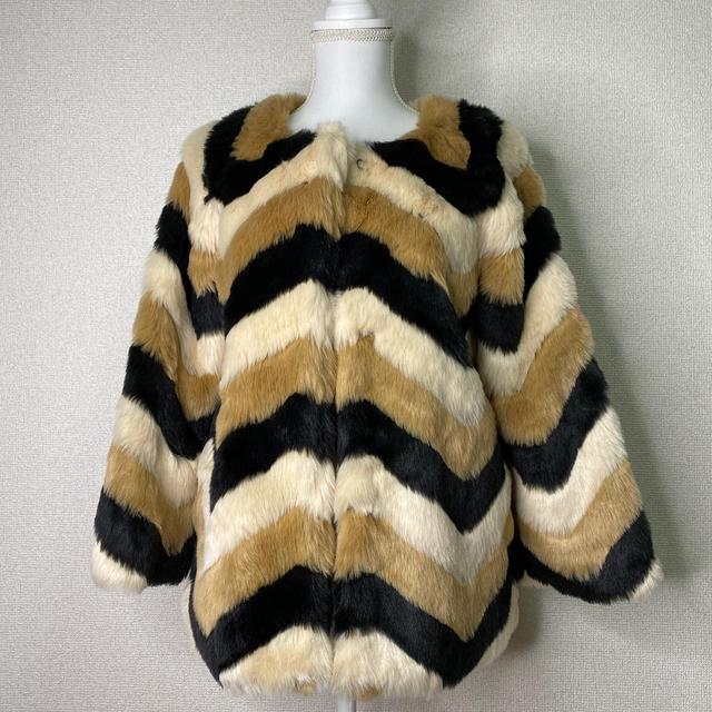 Lily Brown(リリーブラウン)の【Lily Brown】エコファーコート レディースのジャケット/アウター(毛皮/ファーコート)の商品写真