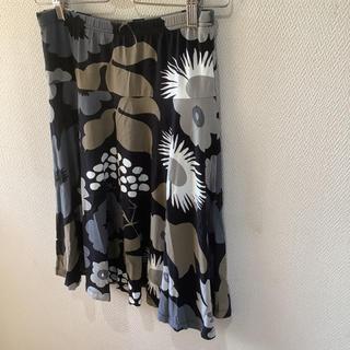 マリメッコ(marimekko)のマリメッコ プリント柄スカート サイズXS タグ付 新品 marimekko(ひざ丈スカート)