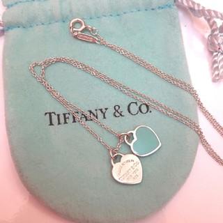 Tiffany & Co. - ティファニー ダブル ハートネックレス