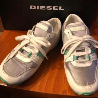 DIESEL - DIESELスニーカー23cm★エメラルドグリーン・グレー・ホワイト系色