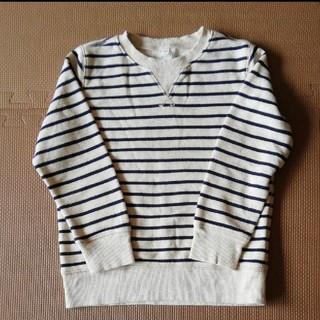 ムジルシリョウヒン(MUJI (無印良品))の無印良品 ボーダー トレーナー(Tシャツ/カットソー)