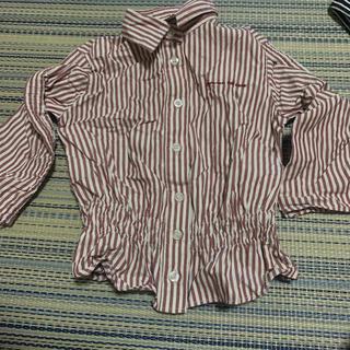 コムサイズム(COMME CA ISM)のコムサ ストライプシャツ ネルシャツ 90cm(ブラウス)
