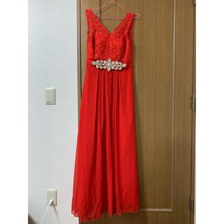 キャバ ロングドレス 赤