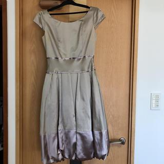 ユナイテッドアローズ(UNITED ARROWS)のユナイテッドアローズ  サテン ドレス  ワンピース  36サイズ(ひざ丈ワンピース)