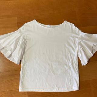UNIQLO - 白Tシャツ フレア袖