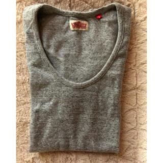 ハリウッドランチマーケット(HOLLYWOOD RANCH MARKET)のH.R.MARKET フライス UネックTシャツ サイズ3(Tシャツ(半袖/袖なし))