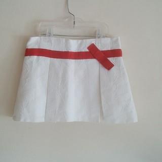 LECASALI♡8yスカート白に赤リボン🎀(スカート)