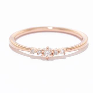 カナルヨンドシー(canal4℃)のcanal4℃ ダイヤモンド K10 リング(リング(指輪))