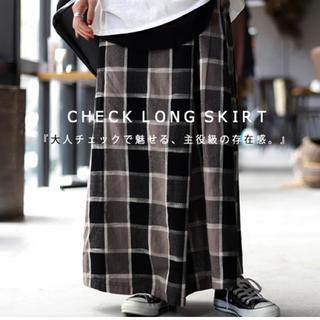 antiqua - antiqua チェック柄デザインスカート