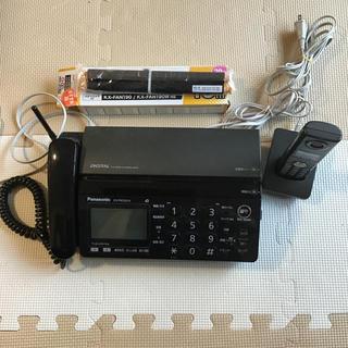 Panasonic - 電話機-普通紙ファクス(子機1台付き) KX-PW320-k Panasonic