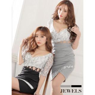 ジュエルズ(JEWELS)の新品*Jewels 5分袖 キャバ ワンピ(ミニドレス)