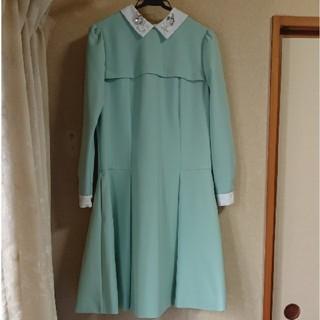 Chesty - 【美品】チェスティ ワンピース 襟付き ビジュー 長袖 1 ミントグリーン