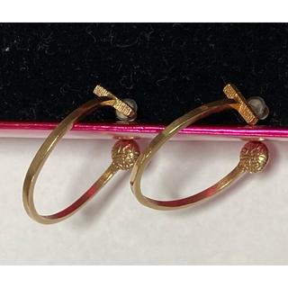 カオル(KAORU)のカオル KAORUのフープピアスk10 ピンクゴールド 美品(ピアス)