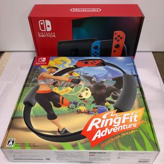 ニンテンドースイッチ(Nintendo Switch)のNintendo Switch本体、リングフィットアドベンチャーセット(家庭用ゲーム機本体)