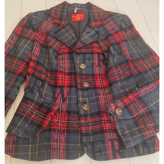 Vivienne Westwood - ヴィヴィアンウエストウッド ★Vivienneタータンチェックロゴ★ジャケット
