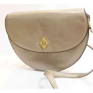 クリスチャンディオール(Christian Dior)のディオール ヴィンテージ 半円 レザーショルダーバッグ DIOR(ショルダーバッグ)