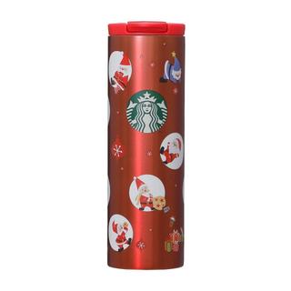 スターバックスコーヒー(Starbucks Coffee)のスターバックス ステンレスシリンダータンブラーパーティーサンタズ(タンブラー)