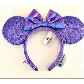 Disney - 即購入OK♡ 即日発送❣️上海ディズニーカチューシャ 紫 パープルスパンコール
