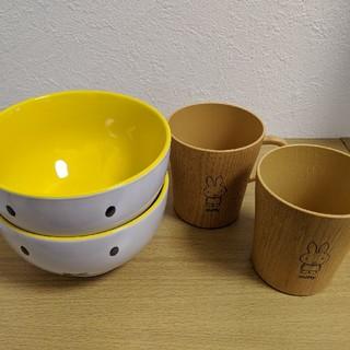ミフィー どんぶり茶碗とマグカップ 2セット