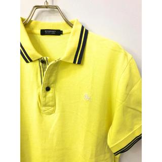 バーバリーブラックレーベル(BURBERRY BLACK LABEL)のバーバリーブラックレーベル ホースマーク刺繍 ボーダー ポロシャツ 2 イエロー(ポロシャツ)