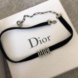 Christian Dior - Christian Dior チョーカー ホワイトクリスタル Dior