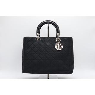 Dior - 《Dior/ナイロントートバッグ》Aランク カナージュ Diorロゴチャーム 美