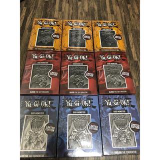 ユウギオウ(遊戯王)の遊戯王 三幻神 金属製 未開封 5000限定 オシリス ラー オベリスク3セット(シングルカード)