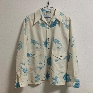 SUNSEA - 19ss SUGARHILL Poppy Open Collared Shirt