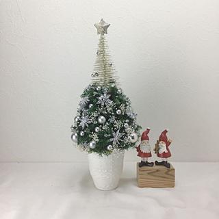 クリスマス いちばん上に星の光る、シルバーグリーンのクリスマスツリー(その他)