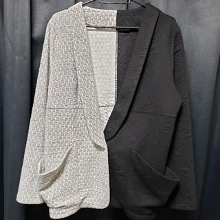 アンティカ(antiqua)のアンティカ antiqua バイカラージャケット ブラック 黒 クロ 灰色グレー(テーラードジャケット)