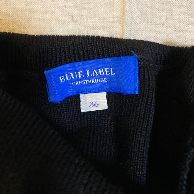 BURBERRY BLUE LABEL(バーバリーブルーレーベル)のバーバリー ブルーレーベル クレストブリッジ ワンピース 36 レディースのワンピース(ひざ丈ワンピース)の商品写真
