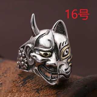 和風 日本 テイスト 般若 お面 リング 指輪 数量限定 16号(リング(指輪))